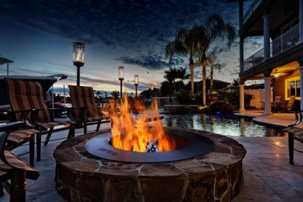 Night Scene small Fire Pits and Fireplaces