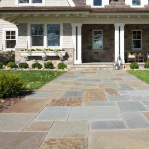 bluestone full color natural cleft patterned paving 3 Flagstone-Cut Natural Stone