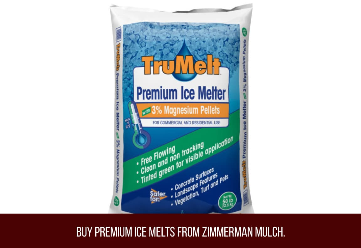 premium ice melts available from Zimmerman Mulch